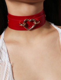Fashion Red Heart Shape Decorated Choker