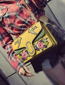 Fashion Yellow Butterfly Shape Decorated Shoulder Bag