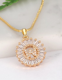 Fashion Gold Color Letter W Shape Decorated Necklace