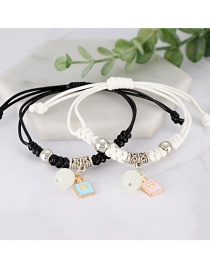 Fashion White+black Bottle Shape Decorated Bracelet (2 Pcs )