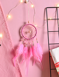 Fashion Pink Pearl Decorated Wall Hanging (no Light)