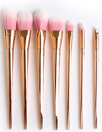 Fashion Rose Gold Pure Color Decorated Cosmetic Brush(7pcs)