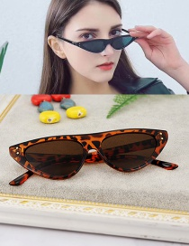 Fashion Black+coffee Cat Eyes Shape Design Simple Glasses