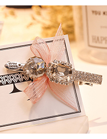 Lovely Pink Diamond&bowknot Decorated Hair Clip