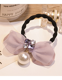 Lovely Light Purple Pearls&bowknot Decorated Hair Band