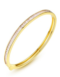 Fashion Gold Color Pure Color Decorated Simple Braclet