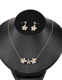 Fashion Yellow Flowers Shape Design Pure Color Jewelry Sets