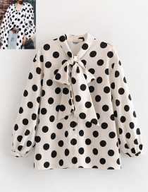 Fashion White Dots Pattern Decorated Long Sleeves Shirt