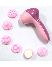 Fashion Pink Round Shape Decorated Face Cleaners (6pcs)