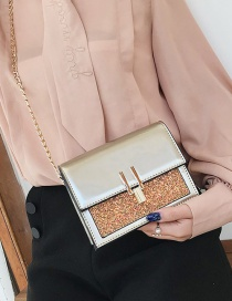 Fashion Gold Color Sequins Decorated Square Shape Bag
