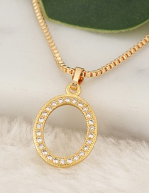 Fashion Gold Color Letter O Pendant Decorated Necklace
