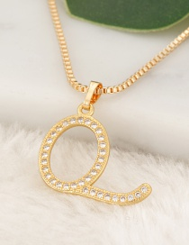 Fashion Gold Color Letter Q Pendant Decorated Necklace