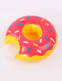 Trendy Plum Red Doughnut Shape Design Cup Holder
