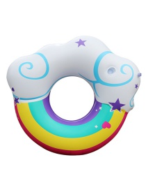 Trendy Multi-color Rainbow&cloud Pattern Design Swimming Ring