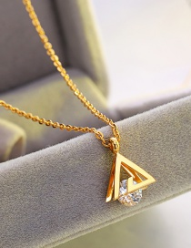 Fashion Gold Color Triangle Shape Design Necklace