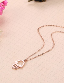 Fashion Rose Gold Pure Color Decorated Necklace
