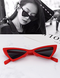 Fashion Red Triangle Shape Decorated Sunglassess