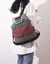 Fashion Multi-color Stripe Pattern Decorated Backpack