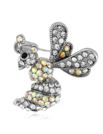 Fashion Silver Color Butterfly Shape Design Brooch