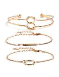Fashion Gold Color Pure Color Decorated Bracelets(3pcs)
