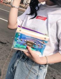 Fashion Silver Color Rivet Decorated Bag