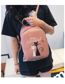 Fashion Pink Fox Pattern Decorated Backpack