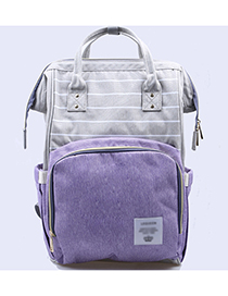 Fashion Purple Stripe Pattern Decorated Backpack