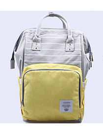 Fashion Yellow Stripe Pattern Decorated Backpack