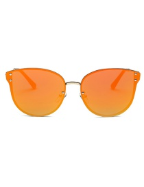 Fashion Orange Pure Color Decorated Sun Glasses