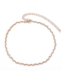 Fashion Gold Color Pure Color Decorated Simple Necklace
