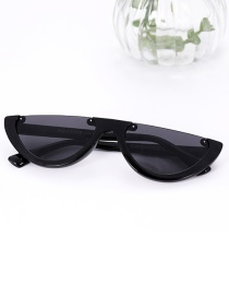Fashion Black Half Framed Shape Design Sunglasses