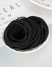 Lovely Black Pure Color Design Child Hair Band(around 100pcs)