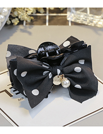 Fashion Black+white Bowknot Shape Decorated Hair Clip