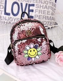 Fashion Pink Flower Pattern Decorated Backpack