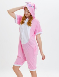 Lovely Pink Cartoon Pattern Decorated One-piece Pajamas(for Child)