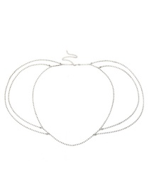 Fashion Silver Color Full Diamond Decorated Multi-layer Body Chain