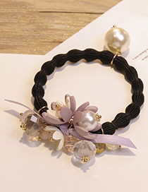 Fashion Light Purple Flower Shape Decorated Hair Band