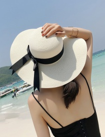 Fashion White Bowknot Shape Decorated Hat
