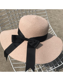 Fashion Light Pink Bowknot Shape Decorated Hat