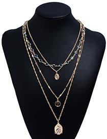 Fashion Gold Color Multi-layer Design Necklaces