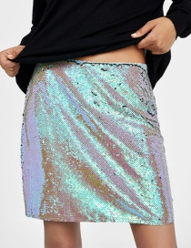 Fashion Silver Color Paillette Decorated Skirt