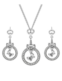 Fashion Silver Color Butterfly Shape Decorated Jewelry Sets