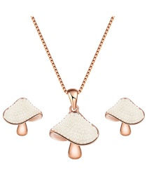 Fashion Rose Gold Mushroom Shape Decorated Jewelry Sets