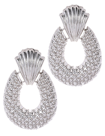 Fashion Silver Color Pineapple Shape Decorated Earrings