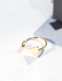 Fashion Gold Color Triangle Shape Decorated Opening Ring