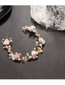 Fashion Pink Flower Shape Decorated Jewelry Sets