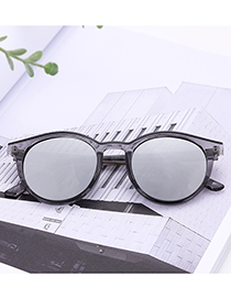 Vintage Gray Round Shape Decorated Sunglasses