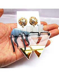 Fashion Gold Color Leopard Shape Decorated Earrings