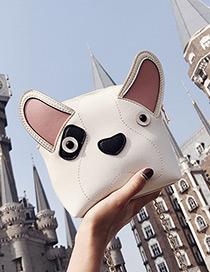 Fashion White Dog Shape Decorated Shoulder Bag
