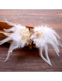 Fashion White Butterfly Shape Decorated Hair Accessories
